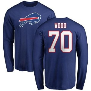 Eric Wood Buffalo Bills Men's Royal Pro Line Any Name & Number Logo Long Sleeve T-Shirt -