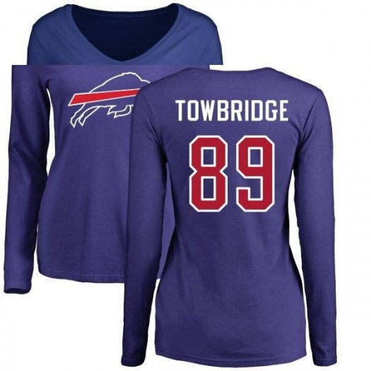 Keith Towbridge Buffalo Bills Women's Royal Pro Line by Branded Name & Number Long Sleeve T-Shirt -
